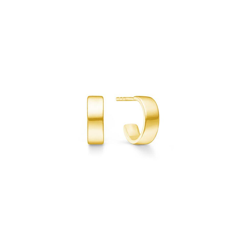 26abf1d9 Chunky mini hoops» ørering i forgylt sølv fra Id fine | Einersen Gull